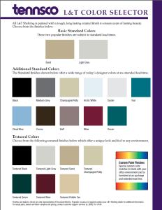Tennsco Color Options