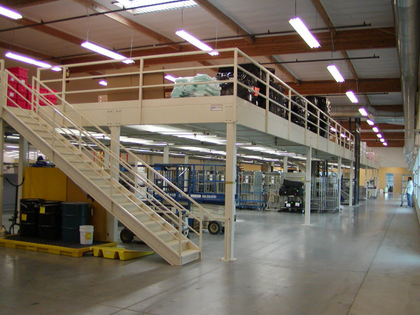 Mezzanine systems steel shelving warehouse racking for Steel mezzanine design