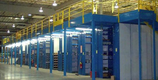 Mezzanine Systems Steel Shelving Warehouse Racking